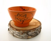 Fox Bowl , autumn Orange , woodland wedding gift