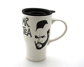 Mr T Tea Ceramic Travel Mug with Handle