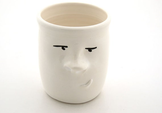 Pensive Pen Cup or Brush holder