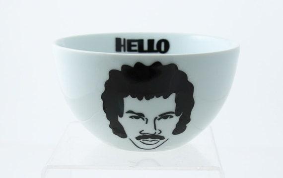 Hello Lionel Richie Cereal Bowl