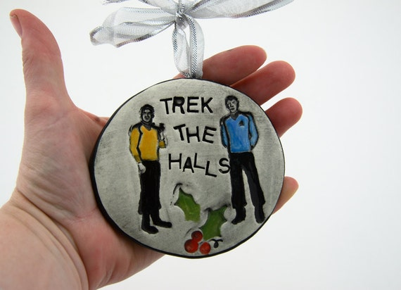 Star Trek Ornament With Kirk And Spock By LennyMud On Etsy