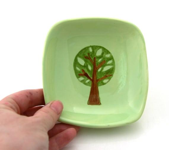 Green Spring Tree Trinket Dish