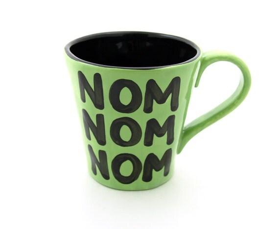funny Zombie mug Extra large mug Halloween for zombie lover Nom Nom Nom
