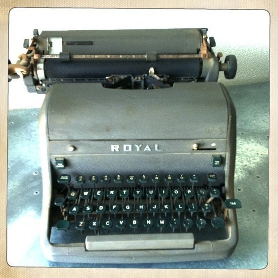 RESERVED FOR WRENNE-Vintage Royal Typewriter Purchased from Estate of Well Known Journalist
