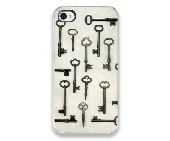 IN STOCK SALE - iPhone 4 Case - Vintage Skeleton Keys Photograph custom iPhone Cover, antique brass keys photography, steampunk accessory