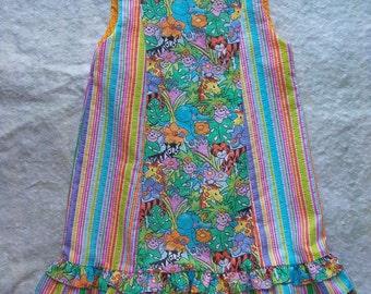 Jungle Print Girls Dress--size 3/4