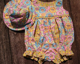 Romper and Hat for Baby Girl  Size 12 to 18 month