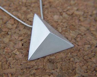Fine Silver Triangle Necklace