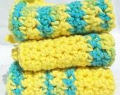 Washcloths or Dishcloths Set of 3