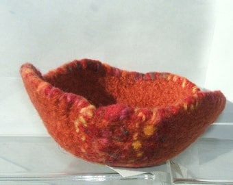 Felted Bowl Free Style Egg Like