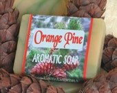 ORANGE PINE aromatic, all natural soap, small guest size