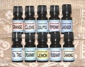 Essential Oil Collection Basic Set of Ten 10ml bottles - pure, undiluted essential oils, perfect starter kit for aromatherapy
