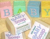 Organic Baby Soap, all natural soap, fragrance free, sensitive skin soap, ultra gentle soap, face wash, facial cleanser
