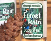 Forest Rain, Body Wash for Men, with pine, cedarwood and lime