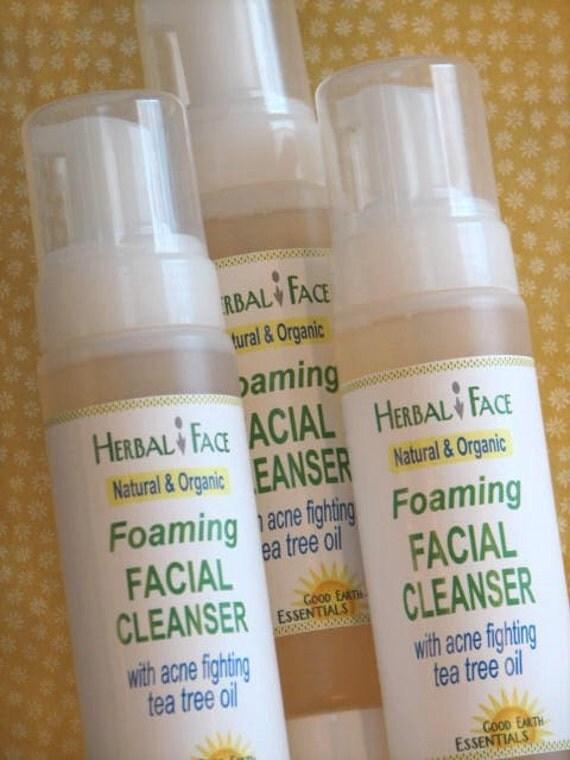 Organic foaming cleanser