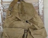 Vintage Army Green Canvas Backpack