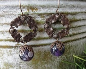 Reserved Listing for corrnucopia- Vintaj Brass Waterlily and Dog Tooth Amethyst- Inspired Dreams