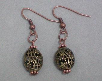 Earrings Brassy Copper