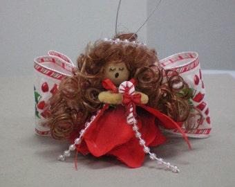 Angel Christmas Flower Ornament