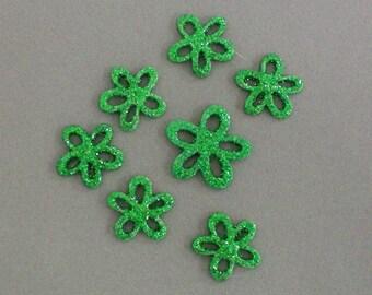 Decals Sparkle Green Flowers