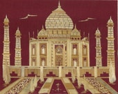 Unique gift for your loved one. Valentine Gift. Handmade TAJ MAHAL with dried leaves of rice plant.