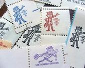 Mr Zippy  .. Vintage Postage Ephemera .. 25