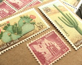 Desert Rose .. UNused US Vintage Postage Stamps  .. post 5 letters