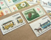 About Town .. Botanical .. UNused Vintage Postage Stamps  .. post 5 letters