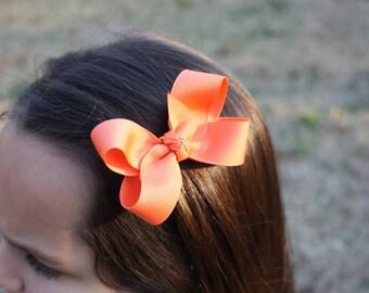 Simply Papaya  3' Basic Bow
