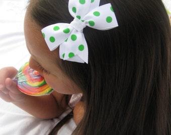 Apple green polka