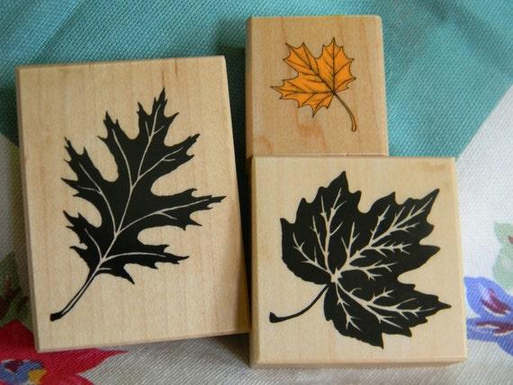Hero Arts PSX Fall Leaf Leaves Stamp set Destash Sale