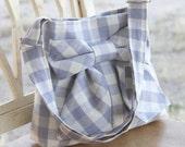 Summer.Picnic.Carpet.Bag  w/ Adjustable Strap (lavendar gingham)