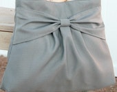 Light Gray Knot Bag / Purse w/ Single Adjustable Strap