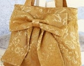 Deep Mustard Bow Bag / Purse with Double Handles