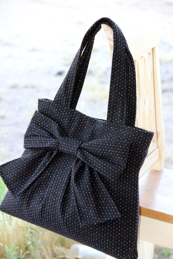 Grandma.Dot.Carpet.Bag (Black w/ Multi-Colored Dots)