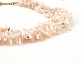 necklace with coral and gold