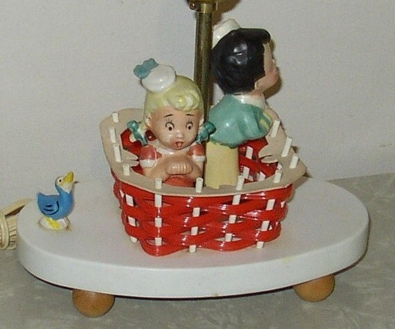 Vintage Childrens Hot Air Balloon Lamp By Retroology On Etsy