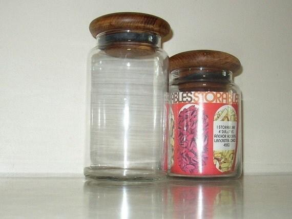 glass jars with wooden lids. Black Bedroom Furniture Sets. Home Design Ideas