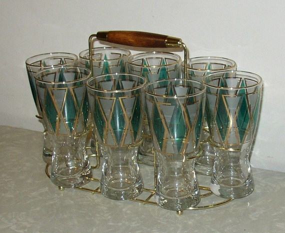 Atomic Drinking Glass Set