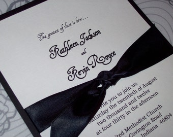 Regal Ribbon Wedding Invitation by Kim Boyce Designs