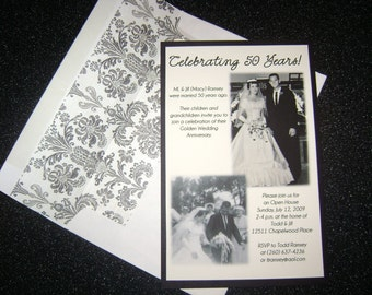 25 or 50 Wedding Anniversary Invitation Party Celebration