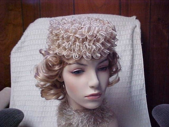 Beige Jonquil Designer original vintage hat