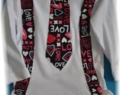 Valentine's Day Boys tie onesie size 3-6 mo ready to ship or order your size