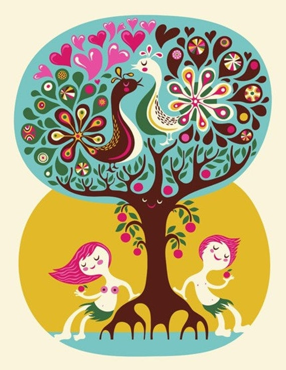 Love Garden... limited edition giclee print of an original illustration (8.5 x 11in)