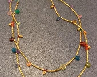 Salmagundi Gold Two Strand Briolette Necklace