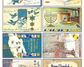 Chanukah-8 Vintage Designs on a Collage Sheet Digital Download - AHNKA1