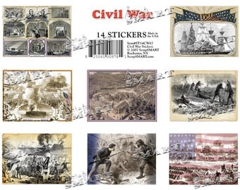 14 American Civil War Images in a Digital Collage Sheet Download - ST14CW67