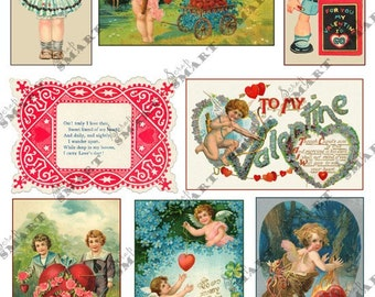 Valentine's Day - Collage Sheet Digital Download - AVALE2