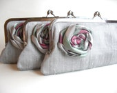"""Wedding Party, Bridesmaid's Clutches, Custom """"Kiss Clasp"""" purses for your bridesmaids"""