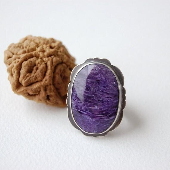 RING SALE - Lavender charoite ring